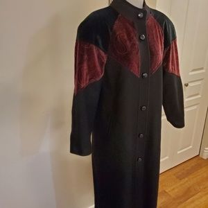 Wool Coat Black Vintage Komitor 10 Medium